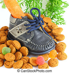 Childrens shoe with carrot voor Sinterklaas and pepernoten -...