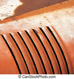 Abstract of automobile - Abstract close up of vent on old...