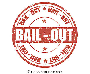 Bail out-stamp - Grunge rubber stamp with text Bail...
