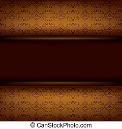 Vintage ornamental brown background with board - Vintage...