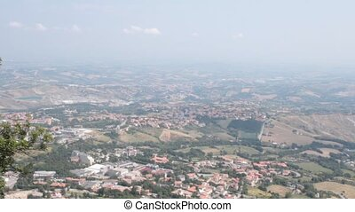 San Marino landscape - aerial view of the San Marino...