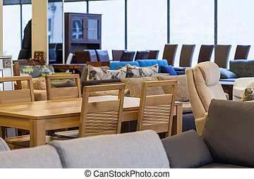 Modern furniture store - A store with a variety of modern...