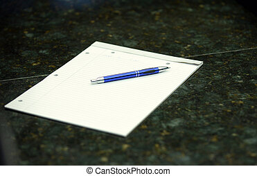 notebook on table in an office for business - notebook on...