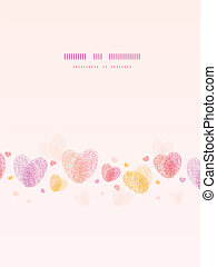 Fingerprint heart vertical romantic background card - Vector...