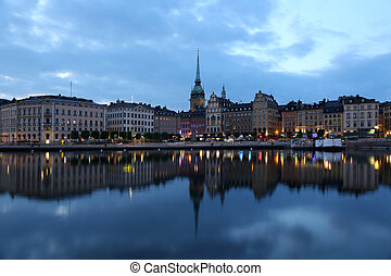 Stockholm Gamla Stan - View over the old town of Stockholm...