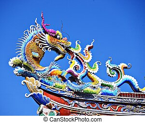 Chinese Temple Detail - Ornate Chinese Temple detail in the...