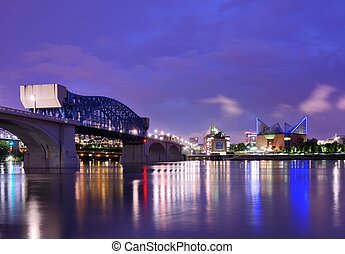 Downtown Chattanooga, Tennessee, USA.