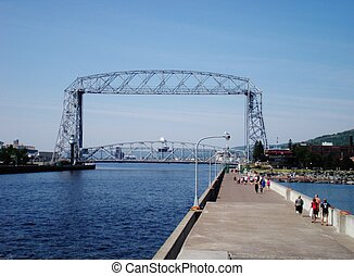 Duluth Aerial Lift Bridge - Aerial lift bridge in Duluth,...