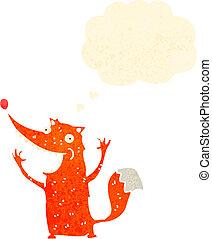 funny retro cartoon fox