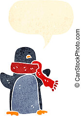 funny christmas penguin cartoon