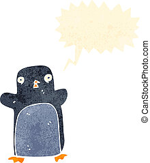 funny christmas penguin cartoon