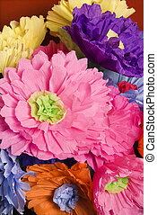 Paper flowers. - Colorful paper flower bouquet.