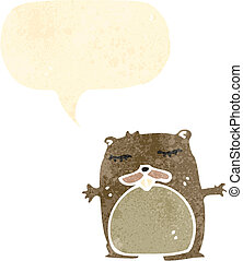 retro cartoon beaver