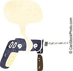 power drill cartoon