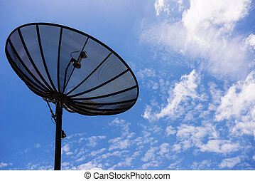 Satellite Dishes with Blue sky 1