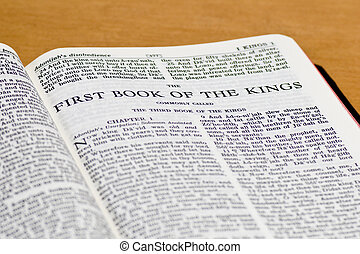 Bible Page - Kings - Close up of Kings bible page