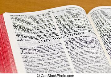 proverbios, biblia,  -, página