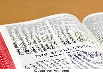 Bible Page - Revelation - Close up of Revelation bible page