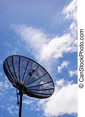 Satellite Dishes with Blue sky 2