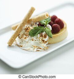 Gourmet dessert. - Still life of gourmet dessert with...
