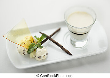 Gourmet dessert - Still life of gourmet dessert with...