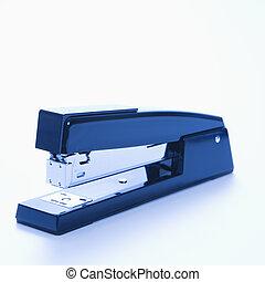 Stapler. - Blue stapler on white background.