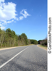 Asphalt road in a countryside