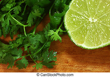 Salsa Ingredients of Lime and Cilantro - Picante Salsa...