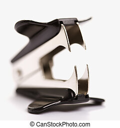 Staple remover. - Staple remover on white background with...