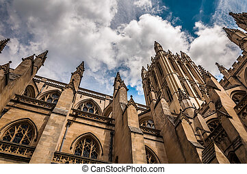 Beautiful architecture at the Washington National Cathedral....