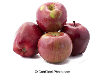 Red Delicious and Macintosh Apples - Appetizing, delicious,...