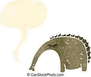 retro cartoon anteater