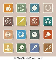 Sports Icons set.Illustration EPS10