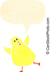 retro cartoon baby chick