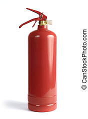 Extinguisher - Car extinguisher isolated over white...