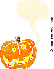 retro cartoon jack o lantern