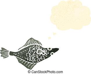 retro cartoon fish