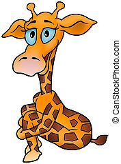 Giraffe 04 - smiling cartoon illustration