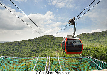 cable car - Cable car at hat yat songkla.