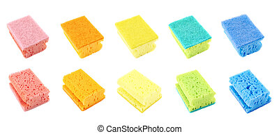 Colorful kitchen sponge set - Colorful kitchen sponge, back...
