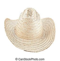 paille, chapeau, isolé