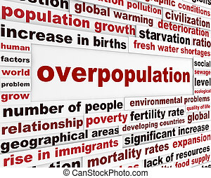 Overpopulation global problem creative poster Modern...