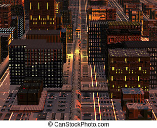 science fiction - digital visualization of a science fiction...