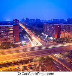 night traffic on junction