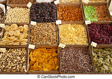 Dried Fruits - scene in portugal / island of madeira /...