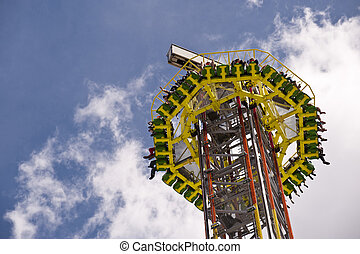Funfair - High Fall Tower on a Funfair