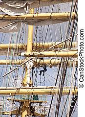 Tall Ship - Mast of a Tall Ship in Kiel