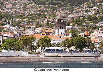 Funchal on Madeira - scene in portugal island of madeira