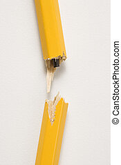 Broken pencil. - Wooden yellow pencil broken with lead...