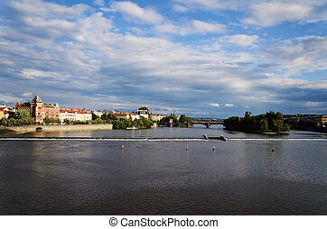 Vltava River In The Prague Czech Republic